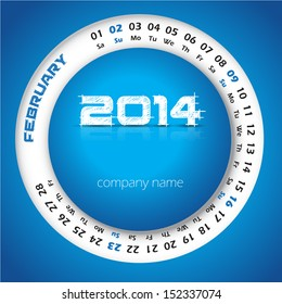 2015 year circular calendar business wall stock vector 214099480 2014 year vector calendar for business wall calendar and business card february reheart Image collections