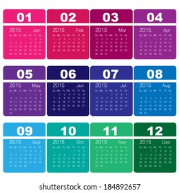 2015 calendar Minimal Design