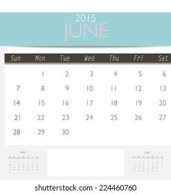 calendar monthly printable 2015