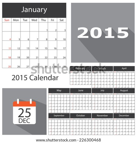 2015 calendar template brochure business design stock vector 2015 calendar template brochure business design vector illustration accmission Images