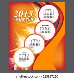 2015 calendar. vector