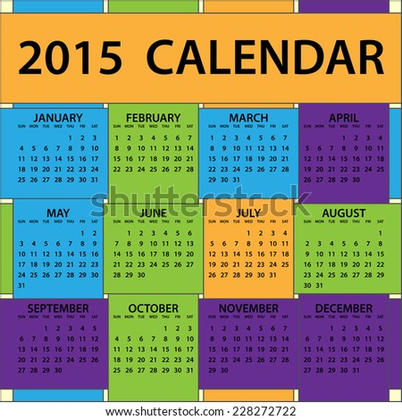 whole year calendar 2015