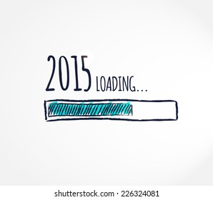2015 loading. Progress bar design. Vector illustration.