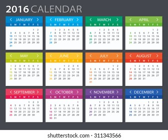 2016 Calendar - illustration