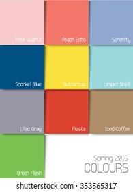 2016 color palette