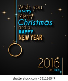 2016 happy new year background for your flyers and greetings card ideal to use for