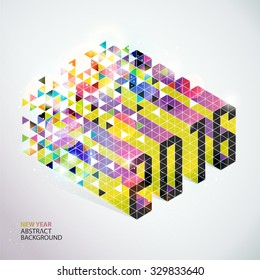 2016 New years abstract vector illustration on white background.