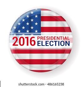 2016 presidential election badge. vector illustration