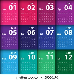 2017 calendar simple design