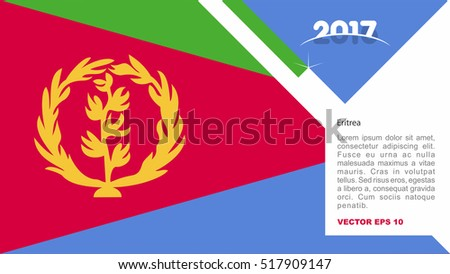 2017 creative card background eritrea country stock vector royalty 2017 creative card background with eritrea country flag m4hsunfo