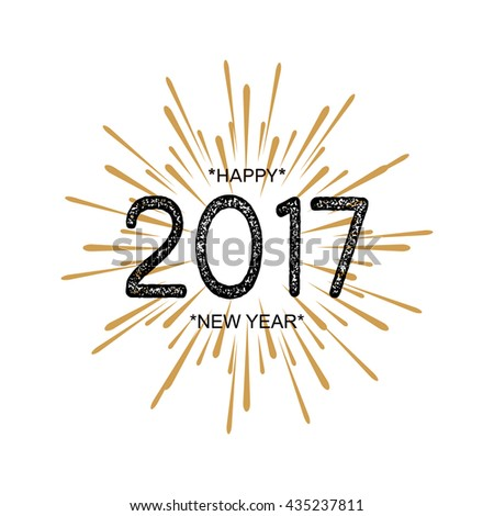 2017 Happy New Year Beautiful Greeting Stock Vector (Royalty Free ...