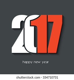 2017 Happy new year creative design for your greetings card, flyers, invitation, posters, brochure, banners, calendar