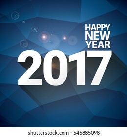 2017 Happy new year creative design background or greeting card