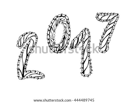 2017 Happy New Year Greeting Card Stock Vector Royalty Free