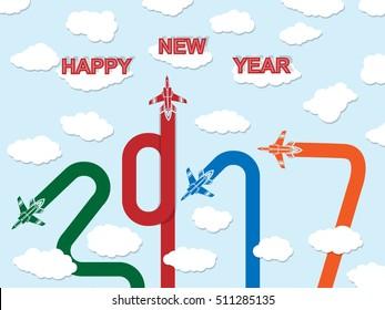 2017 HAPPY NEW YEAR PLANE