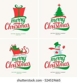 2017. Merry Christmas and Happy New Year. Modern hand drawn lettering phrase. Calligraphy brush and ink. Handwritten inscriptions and quotes for layout and template. Vector illustration of text