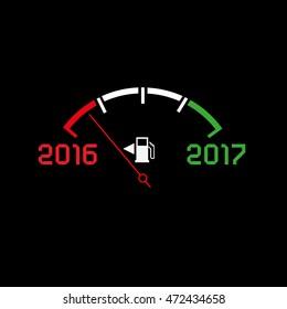 2017 New year comming dark theme, abstract illustration. Editable vector