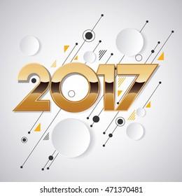 2017 Kreatives Design für Ihre Grußkarte, Flyer, Einladung, Poster, Broschüre, Banner, Kalender
