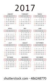 template usa american calendar grid 2019 stock vector royalty free