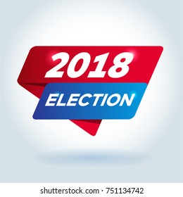 2018 ELECTION arrow tag sign.