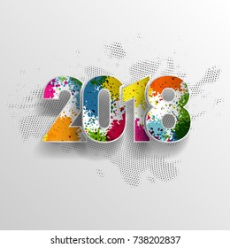 2018 Happy New Year background decoration. Concept vector illustration of date 2018 year.