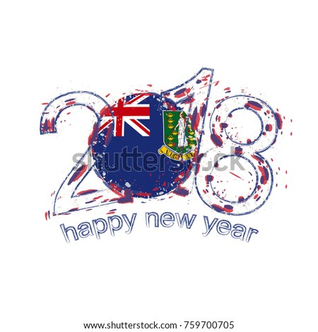 2018 happy new year british virgin stock vector royalty free 2018 happy new year british virgin islands grunge vector template for greeting card calendars 2018 m4hsunfo