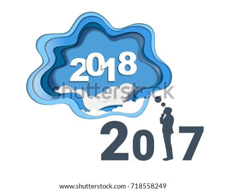 2018 Happy New Year Concept Symbols Stock Vector Royalty Free
