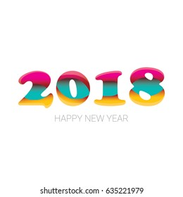 2018 happy new year creative design background or greeting card vector 2018 annual report cover