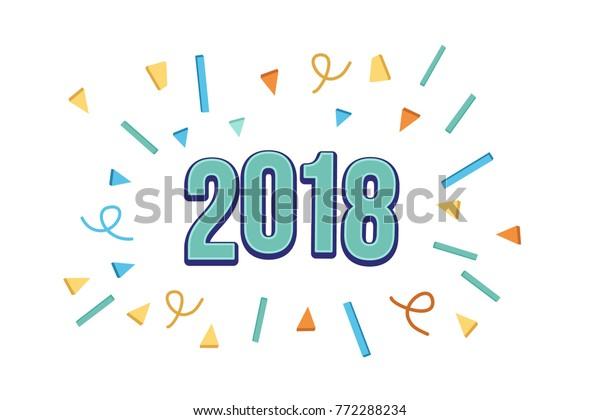 Happy New Year Flat Design 102