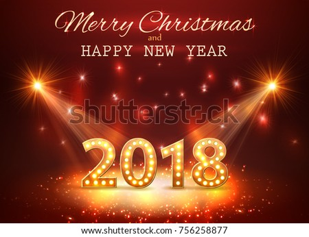 2018 happy new year greeting background stock vector royalty free 2018 happy new year greeting background with spotlights vector m4hsunfo
