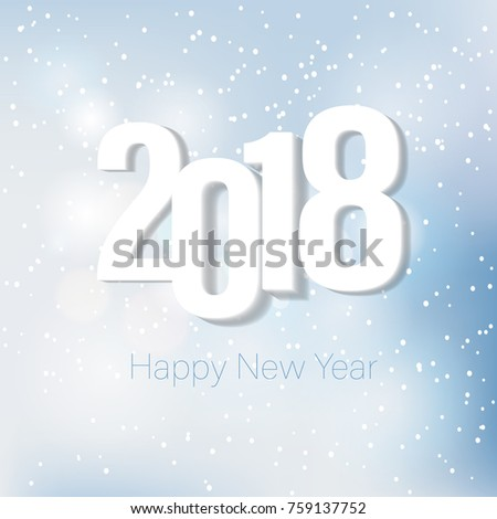2018 Happy New Year Greeting Card Stock Vector (Royalty Free ...
