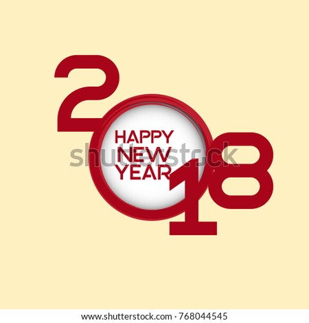 2018 happy new yearhappy new year banner with 2018 numbers
