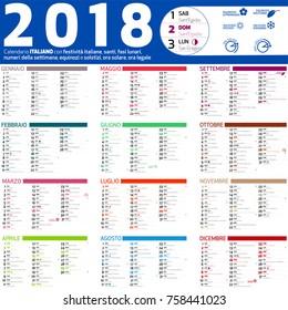 2018 italian caledar