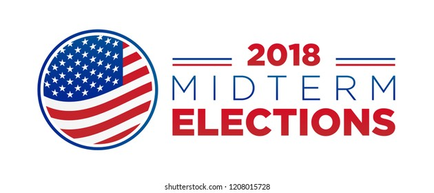 2018 midterm congressional elections vector design