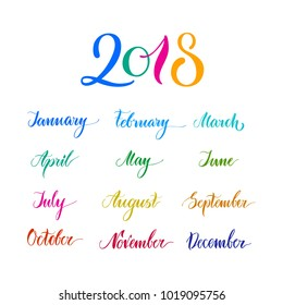 Month Names Images, Stock Photos & Vectors | Shutterstock