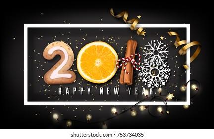 2018 New Year Design Creative Background