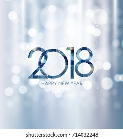 2018 New Year Gold Glossy Background. Vector Illustration EPS10