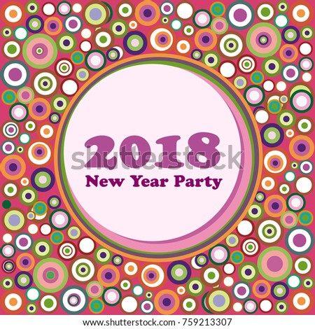 2018 new year party invitation vector abstract vintage background liberty style