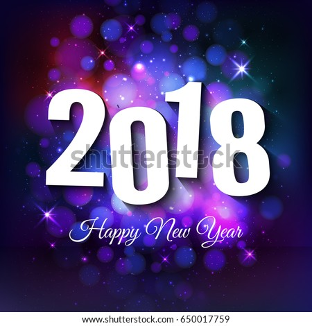 2018 new year purple background vector illustration