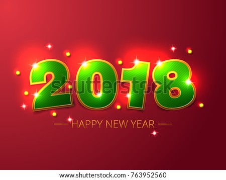 2018 new year vector background