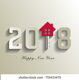 2018 for real estate, 2018 new happy year