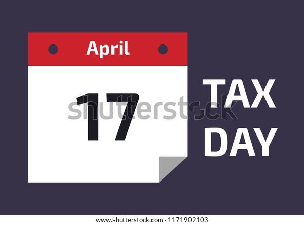Tax Return Calendar 2020 2019 2020 Tax Day Reminder Calendar Stock Vector (Royalty Free