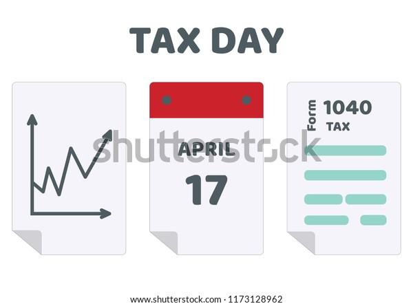 2020 Tax Return Calendar 2019 2020 Tax Day Reminder Calendar Stock Vector (Royalty Free