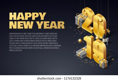 2019 happy new year background