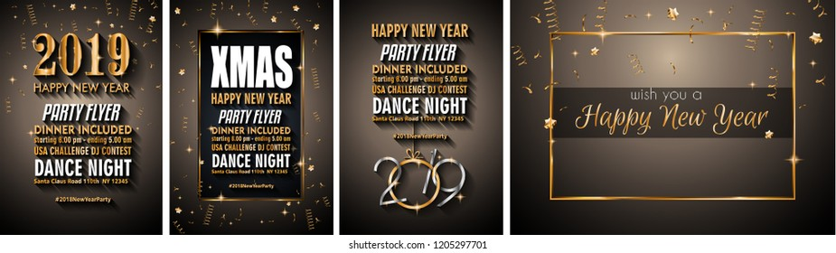d655cc9ccb9 2019 Happy New Year Background for your Seasonal Flyers and Greetings Card  or Christmas themed invitations