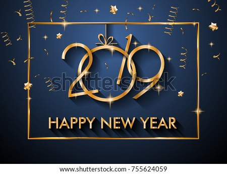 2019 Happy New Year Background Your Stock Vektorgrafik Lizenzfrei