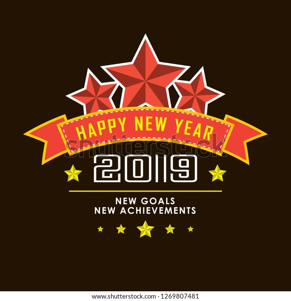 happy new year best wishes stock vector royalty