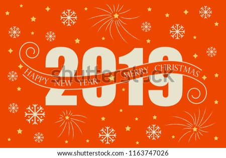 2019 happy new year card design vector happy new year greeting
