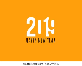 2019 Happy new year celebration text graphics