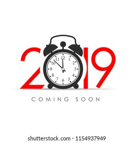 2019 New Year coming soon card